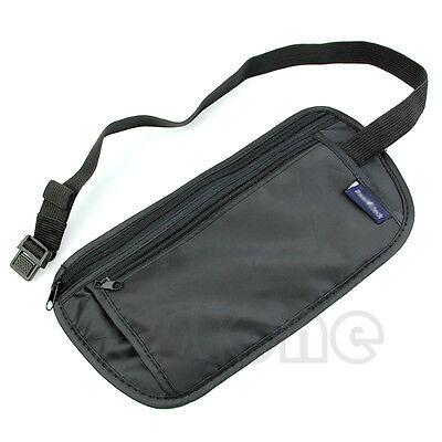 New Unisex Travel Security Waist Belt Zipped Pouch Passport Money Bum Bag
