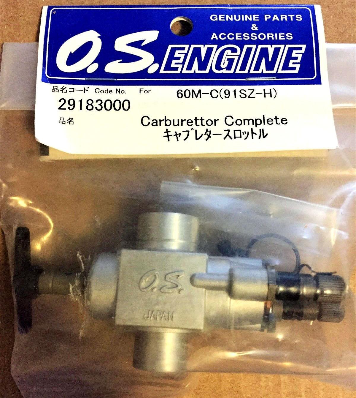 O.S. Carburetor M - C 91SZ RZ - H 29183000 Nuevo