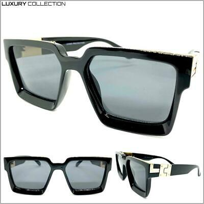 New Classy Elegant LUXURY RETRO Fashion SUNGLASSES Black Frame Studded Dark Lens