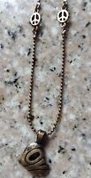 With Tags Lucky Brand 16 Reversible Necklace Peace Love Accents