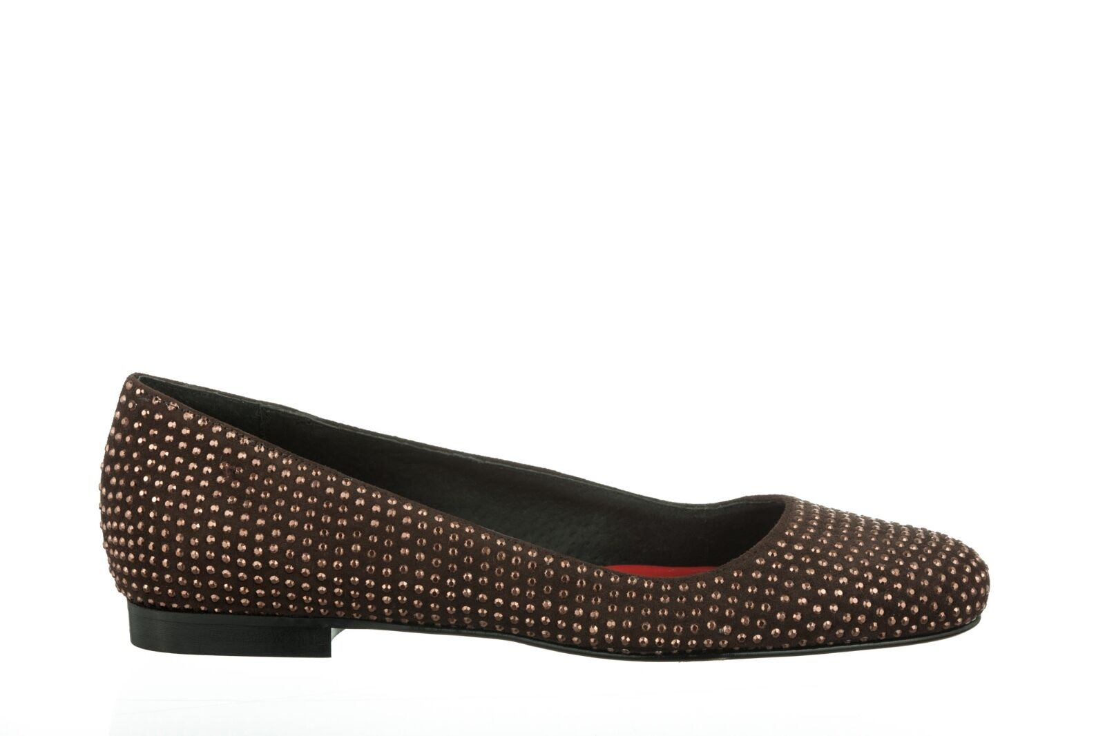MORI MADE FLATS IN ITALY FLATS MADE SCHUHE Schuhe BALLERINA CRYSTAL LEATHER BROWN MARRONE 40 5c5f8b