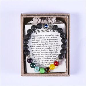 Protection Bracelet - Evil Eye Protection - Natural Lava Stone  - Chakra Healing