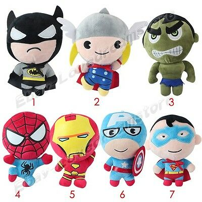 Super Hero Batman/Thor/Spiderman/Superman/Iron 20cm-21cm Soft Plush Doll L Size