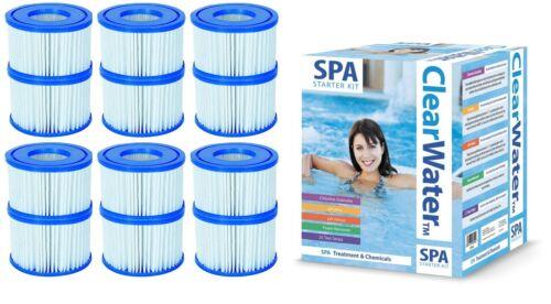Clearwater SPA Nettoyant Kit de démarrage et 6x Lay-Z Spa Cartouche de filtre twin packs
