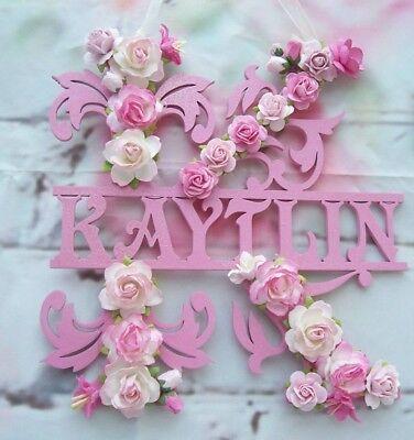 Handmade Hanging Letter Flower 250mm size Plaque ANY LETTER