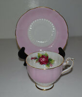 VINTAGE ROSLYN FINE BONE CHINA CUP AND SAUCER