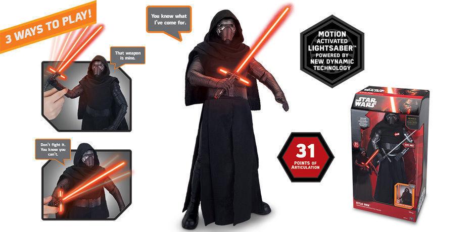 Star Wars The Force Awakens Interactive Kylo Ren, 17  Talking Action Figure