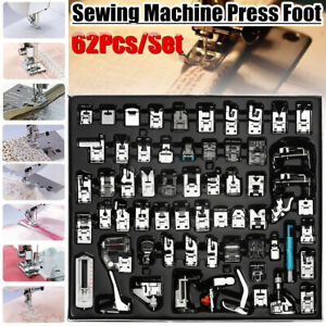 62Pcs-Presser-Foot-Press-Feet-For-Brother-Singer-Domestic-Sewing-Machine-Kit-Set