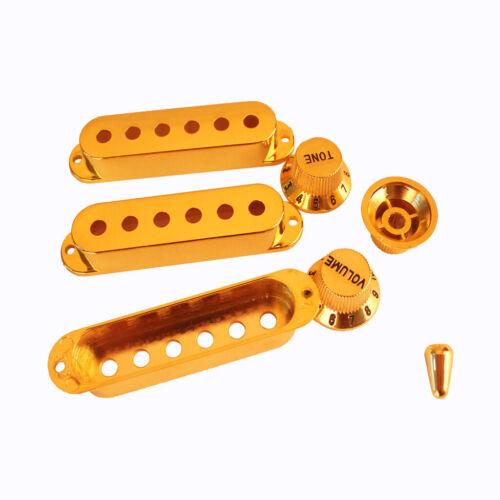 3 x Knob+ 1 xSchalter Spitze ABS 3 x Pickup Abdeckung Gitarre Zubehör Set