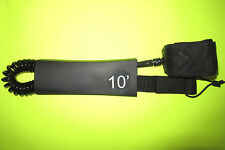 SURFBOARD LEASH 10FT COIL SUP STAND UP PADDLE BOARD