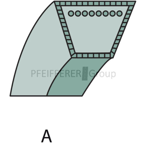 Correas trapezoidales pas F John Deere gy20570 Sabre V-nº gx20072