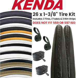 LINERS FOR ROAD BIKES. 2 2 TUBES /& 26/'/' X 1-3//8 GUMWALL BICYCLE TIRES,