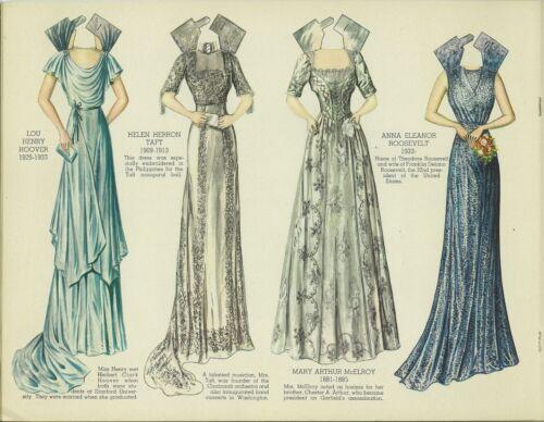 VINTG UNCT 1930S DRESS 1ST LADIES PAPER DOLL LASR REPRODUCTIN~LO PR~NO1 FREE SH