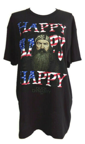 Duck Dynasty Funny Black Tee Shirt SIZE LARGE Happ
