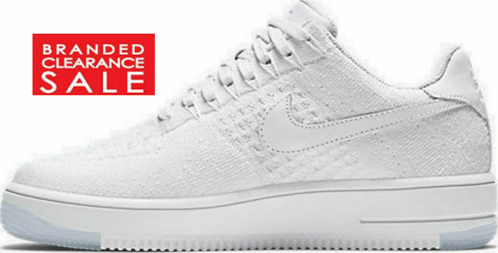 9211938f093 BNIB New Women Nike Air Air Air Force 1 Low Triple White Flyknit ...