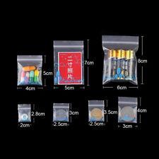 Lot 100 Cute Zip Bags Plastic Bags Jewelry Zipper Bags Small Things Storage Bags