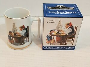 Norman-Rockwell-039-s-Sea-Farers-Collection-Mugs-For-a-Good-Boy-Long-John-Silvers