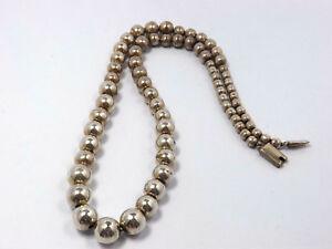Vintage Silver Bead Necklace