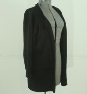 ea78f815e9 Image is loading Peruvian-Connection-Open-Front-Cardigan-Black-Size-Small-
