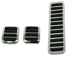 VW Beetle Bug Ghia Custom Throttle, Brake and Clutch Pedal Covers,3-pc Set  4551