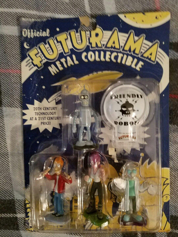 Futurama Bender Fry Leela Professor Farnsworth cast metal figure 4 4 4 pk 21db69
