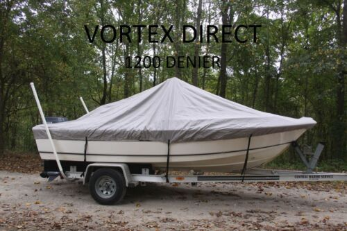 """VORTEX 1200D SUPER HEAVY DUTY 7 YEAR CANVAS GREY 19/'6/"""" CENTER CONSOLE BOAT COVER"""