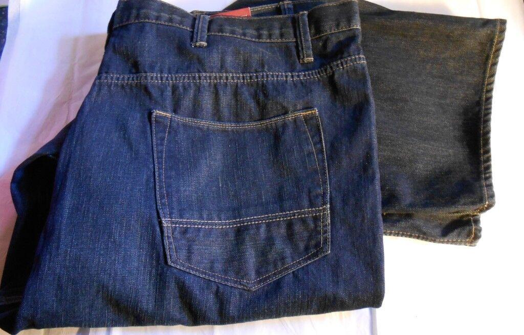 Arizona Mens Big & Tall Relaxed Fit Straight Leg Denim Jeans Durham 50 X 30 NWT