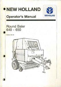 holland round baler 640 650 operators manual ebay rh ebay co uk 848 Round Baler Parts new holland 650 round baler parts manual