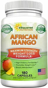 aSquared Nutrition African Mango Extract Cleanse -180 Capsules - Fat Weight Loss