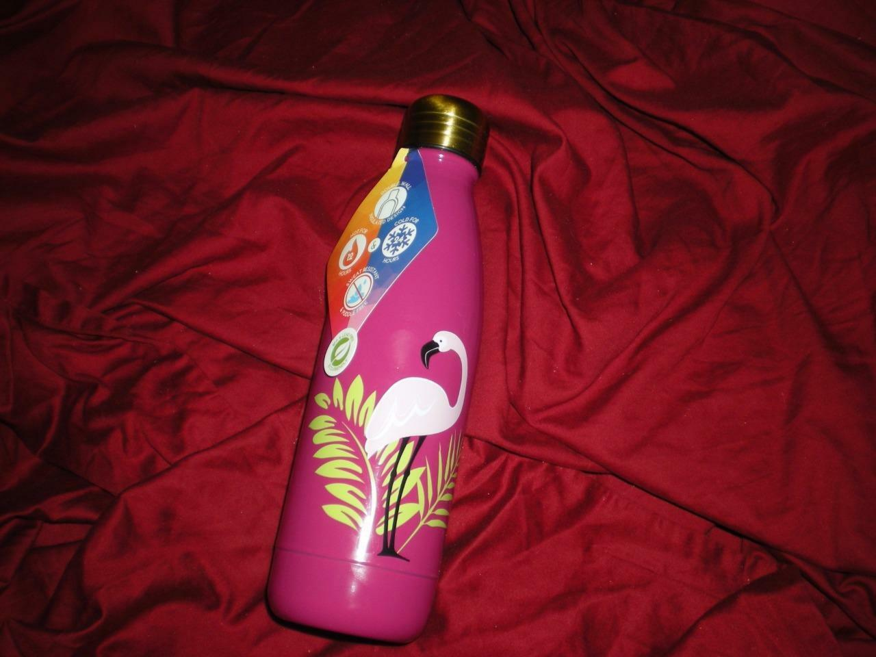 FLAMINGO  TROPICAL SUMMER PINK FLAMINGO (17 fl oz) DOUBLE WALL WATER BOTTLE
