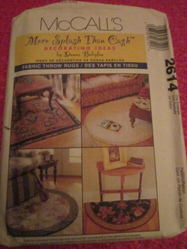 McCALL 2614 HOME DECOR FABRIC THROW RUGS PATTERN UNCUT!!