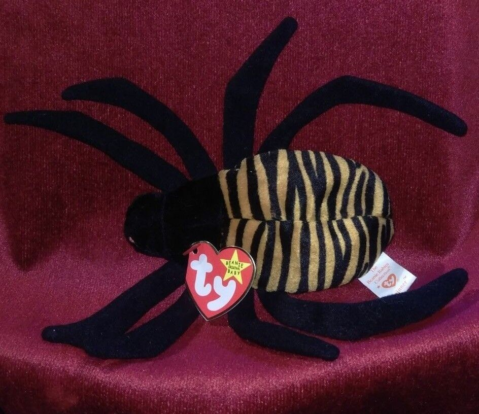 TY Beanie Baby Spinner the Spider Damaged Tush Tag