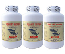 3 x Golden  Alaska Deep Sea Fish Oil, Omega 3, EPA DHA  300x3=900 softgels