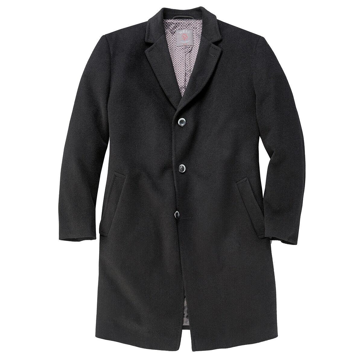 Gebr. Weis Weis Weis schwarzer Mantel Übergröße b6b583