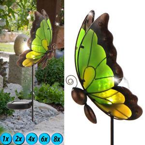 1-2-4-6-8x-solaire-LED-FICHE-lampes-verre-papillons-exterieur-deco-Lumieres