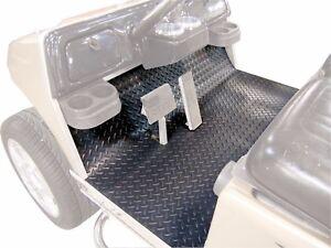 Club Car Precedent Golf Cart Black Rubber Diamond Plate