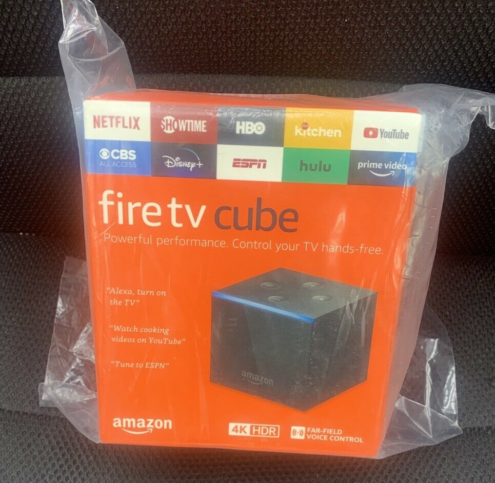Amazon - 4K Fire TV Cube 16GB 2nd Gen Streaming Media Player with Voice Remote 16gb 2nd amazon cube fire gen media player streaming with