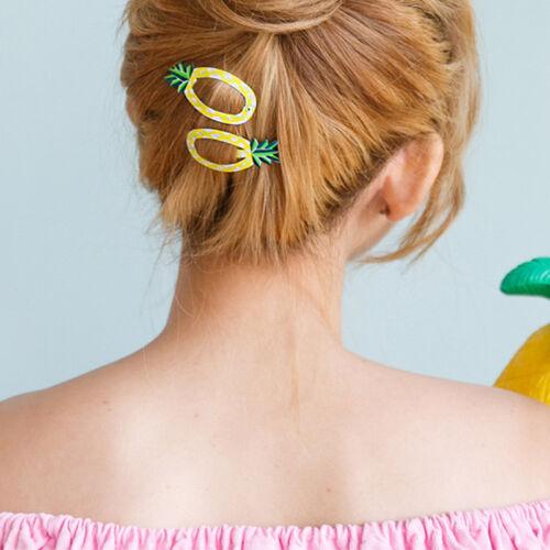 2Pcs//set Women Sweet Cartoon Fruits Girls Hair Clips Hairpins Barrettes Fruits