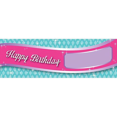PRINCESS PARTY GIANT CUSTOMIZABLE BANNER ~ Birthday Supplies Hanging Decorations