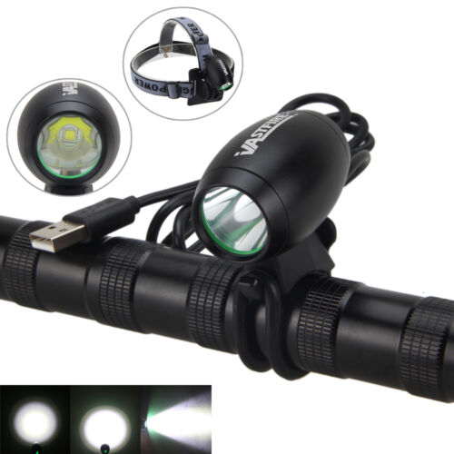 Rechargeable  5000LM 5V USB XM-L2 LED Front Bicycle  Light  Lamp 6400mAh Battery