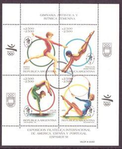 Argentinien-KB-MiNr-Block-49-postfrisch-MNH-Olympia-1992-Barcelona-Oly1134