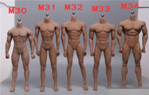 entrega gratis Tbleague M30 M31 M32 M33 M33 M33 M34 cuerpo masculino sin costuras Acero 1 6th modelo de muñeca de acero  diseño único