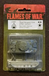 Flames of War American - US881 USA Staff Sergeant Jackson and his Sherman Tank