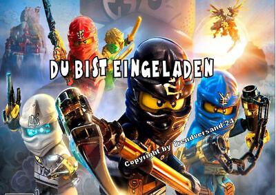 Lego Ninjago Einladungskarten Umschläge Geburtstag Menge selbst bestimmen E13