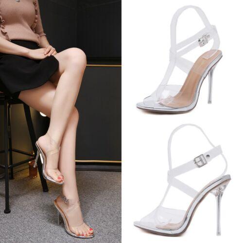 Klare Wrap Stiletto Riemchen Toe High Heels Transparente Damen Schuhe Open ZPRaqxfaw