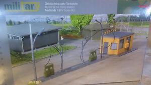 * Herpa Military 745864 Building Set filling Station 1:87 HO / 00 Scale - Wroclaw, Polska - Zwroty są przyjmowane - Wroclaw, Polska