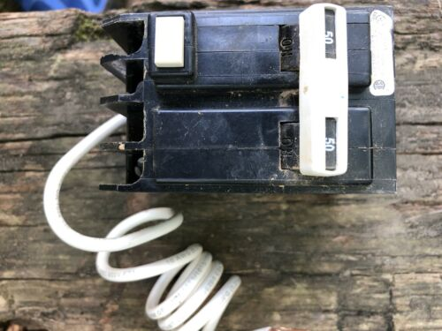 GE THQL2150GFI 50 Amp 220 VAC 240v GFCI Circuit Breaker GFCI THQL-GFCI