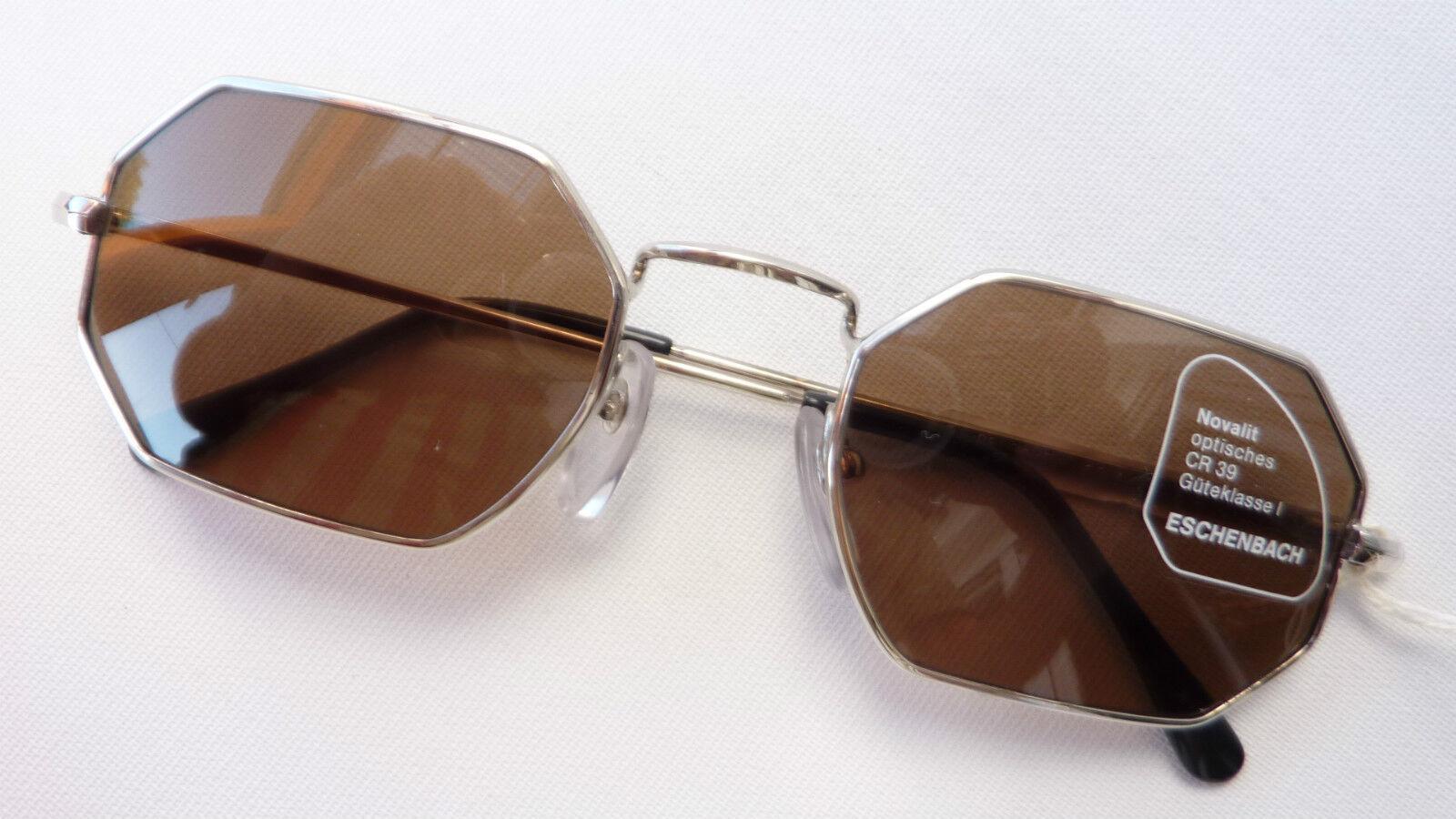 Eschenbach Metall Sonnenbrille Sonnenbrille Sonnenbrille unisex silber starke Tönung braun 100%UV  Gr. M       München Online Shop    Grüne, neue Technologie    Lebhaft und liebenswert  533b44