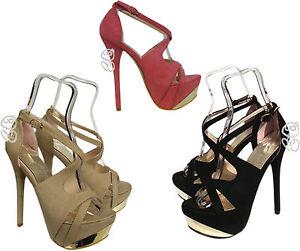 SANDALIAS-elegantes-Zapatos-de-mujer-plataforma-ceremonia-talon-15-novedad
