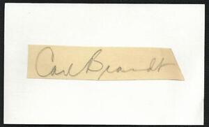 Composer-Carl-Brandt-d-91-Signed-Auto-Vintage-Mounted-Cut-Index-Card-TOUGH-M7